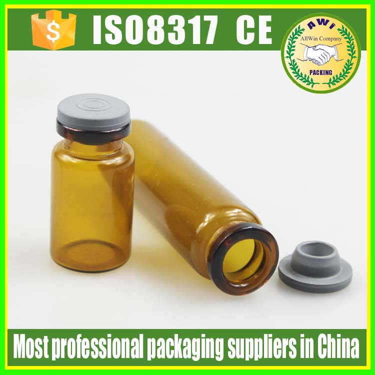 10ml sterile vials for injection with custom logo stickers ,wholesale 5ml glass vials for injection with vials rubber stopper