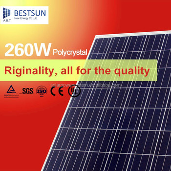 Bestsun solar power generator Poly crystal 250W solar panels with solar system project 20kw grid-connected PV power generation