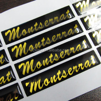 Custom adhesive gold epoxy sticker