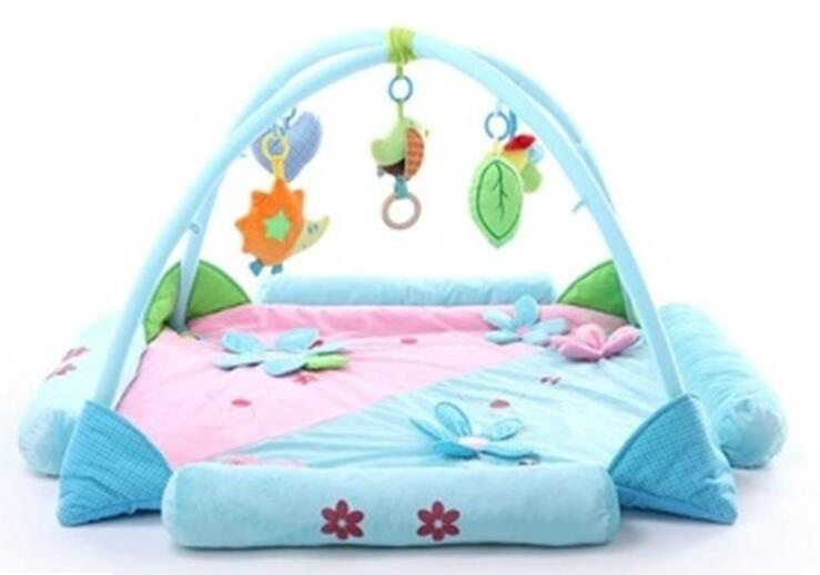 activity play mat/plush Gym Baby Play Mat/ Wholesale plush educational toy baby activity play gym mat
