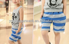 Wholesale kid wear boy strip pants and trousers
