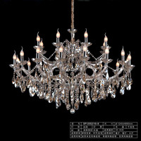 Cognac Color Crystal Chandelier Lamp