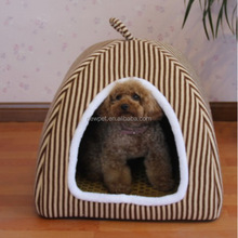 Quality primacy new arrival stripe plush pet kennel cute dog house