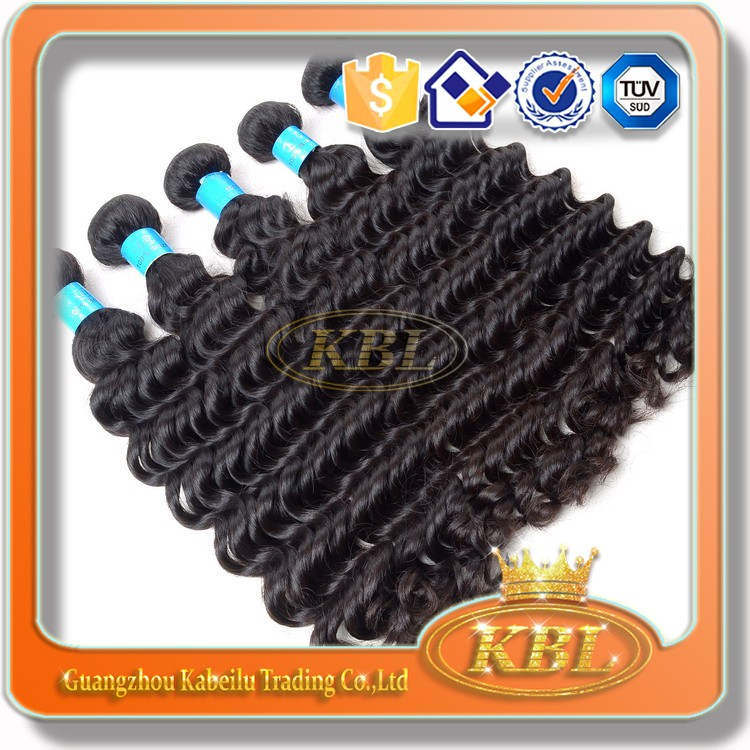 2013New arrive KBL Deep wave Brazilian hair extensions buy brazilian hair