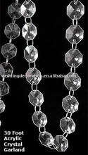 Clear Wedding Acrylic Crystal Garland Strands