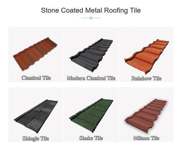 Ultimate Steel Roofing Tiles With Colorful Stone Coated For Sale Factory Directly Sell textured metal tiles