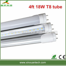 4ft 18w 1.2m high quality ce rohs ul listed hot jizz led t8 fluorescent tube lamp