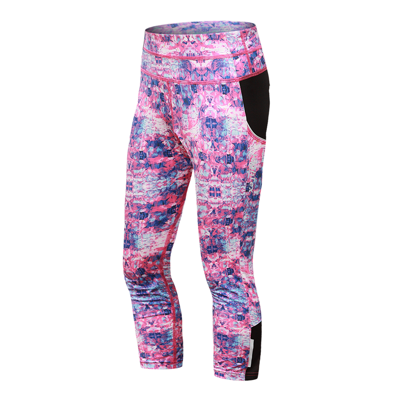 high quality sublimation leggings women's fitness capri tights