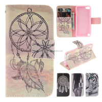 Wholesale Printed Wallet Leather Case Mobile Phone Flip Cover for Apple iPod touch 5