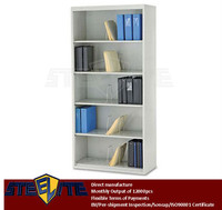 Filing storage open shelf cabinet / wall mounted metal file cabinet without door