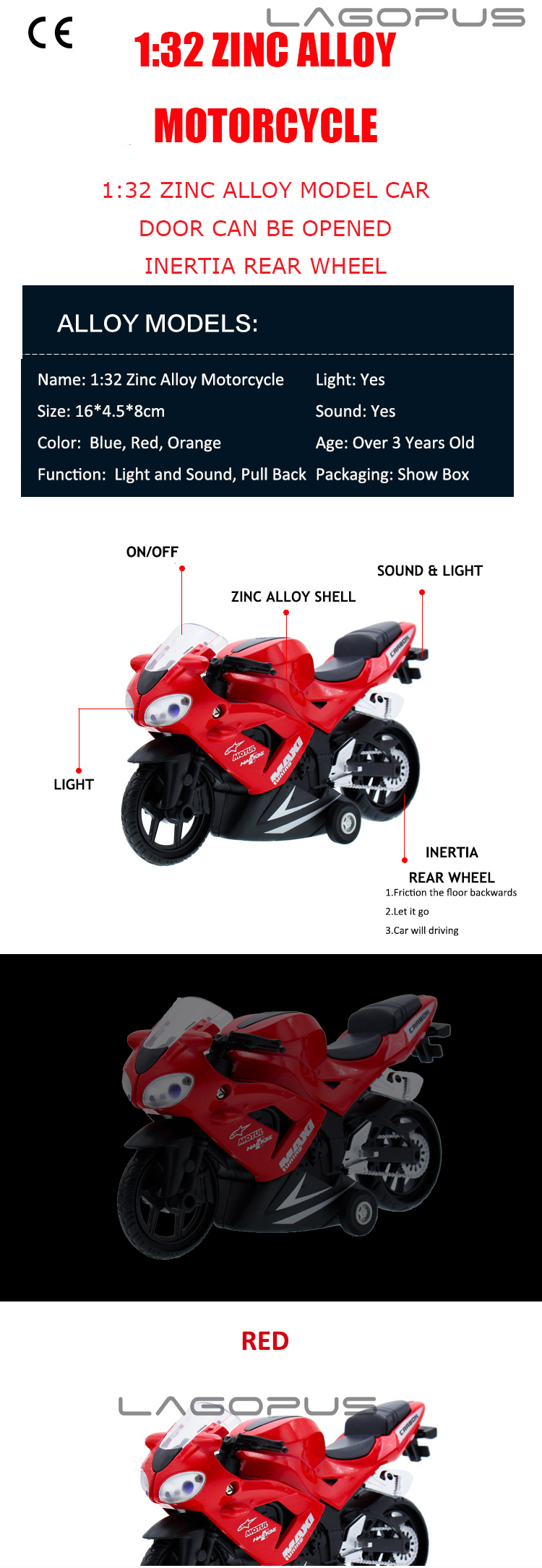 Christmas gift lagopus Zinc Alloy Mini Motorcycles Car Model 1:32 Scale Toy Alloy Diecast & ABS Rubber Motorbike Model Car Toys