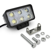 Off road car front bumper 18w led lights for suv 4x4 vehicles