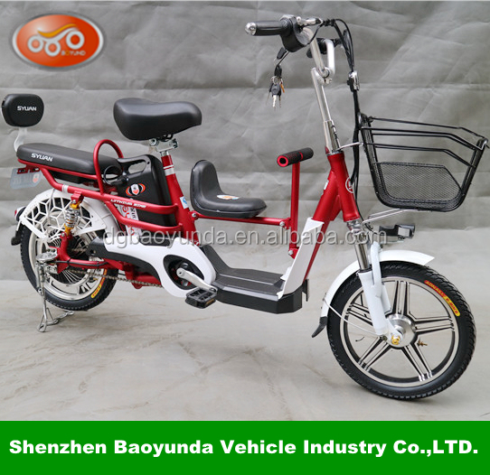 Green Power Adult Electric Brushless Scooter with pedal/basket/seat e-rickshaw icat