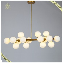 Cool Special Milk White Ball Pendant Light Modern Euro Style Golden LED Lamp G4 with 16 Lights Simple Design Lighting