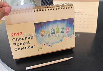 China Zhejiang supplier professional custom desk table calendar for wholesale