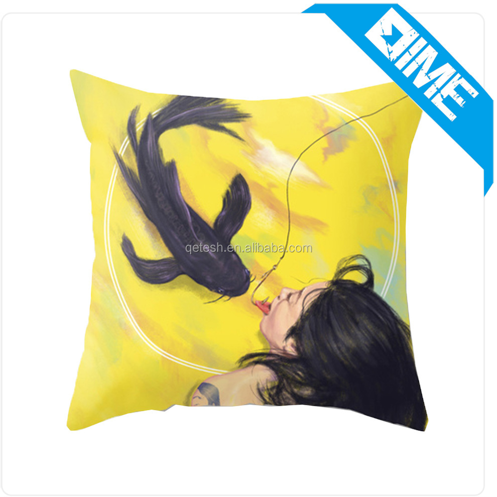 Custom Printed Throw Pillow Case Waterproof Fabric Outdoor Cushion Cover