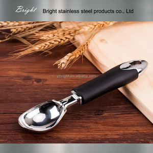 a10112 TPR handle stainless steel ice cream scoop
