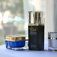Wansheng Square Acrylic Cosmetics Bottle And Jar