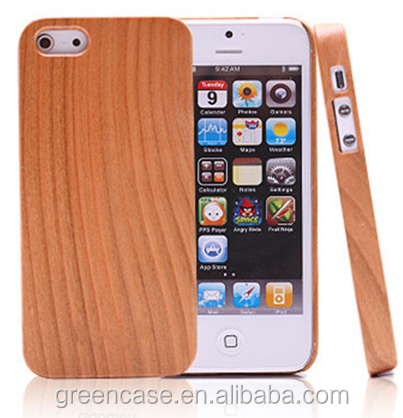 Pure Color One Piece Wooden Mobile Phone Case Cover without Pattern for Iphone5/5s/5 se