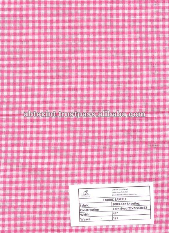 Yarn Dyed Plaid Woven Fabric Printed Cotton Fabric