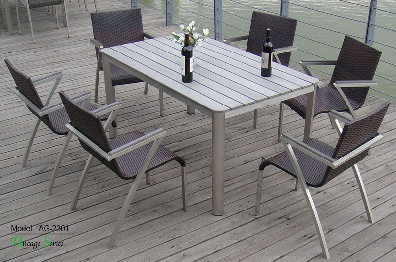 Triumph elegant big table furniture outdoor synthetic for High end outdoor furniture