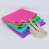Hot! Fashion promotional ladies foldable silicone shopping bag carrying handle