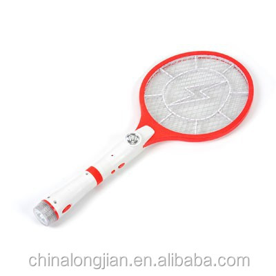 High- Quality Rechargeable Electronic Mosquito Swatter with Flash Light CE,LVD,EMC,ROHS certified
