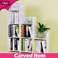 wall mounted book storage shelf,home Storage rack &Organizer wall shelf,wholesale plastic carved storage cabinet