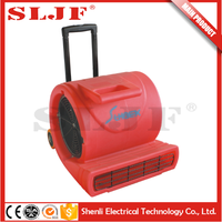 long lasting high efficiency usb fan with led clock floor blower