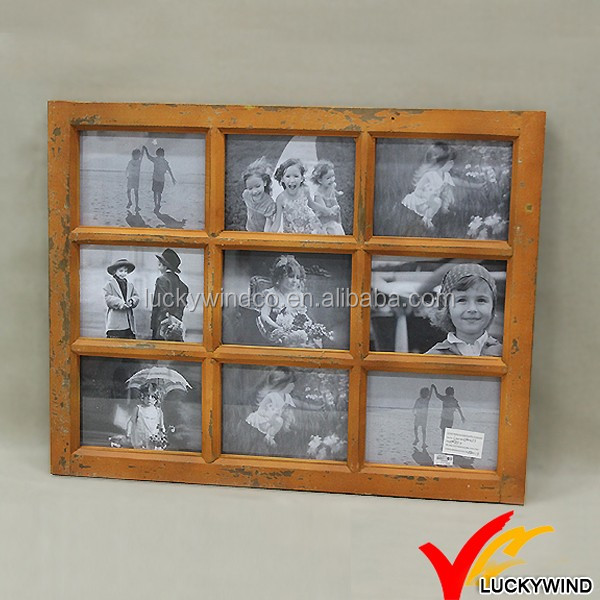 Wholesale distressed vintage 9 opening window wooden - Vintage picture frames cheap ...