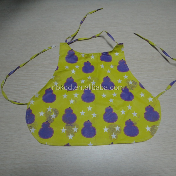 Non-toxic Lovely Waterproof PVC Kids Apron/ Pinafore