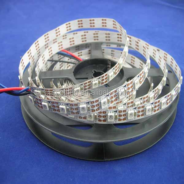 Stick 3M Tape On White PCB;5050 SMD RGB Pixel Led Light; DC 5V;IP20 bare board; Flexible Led Strip Light ;60 led;ws2812;