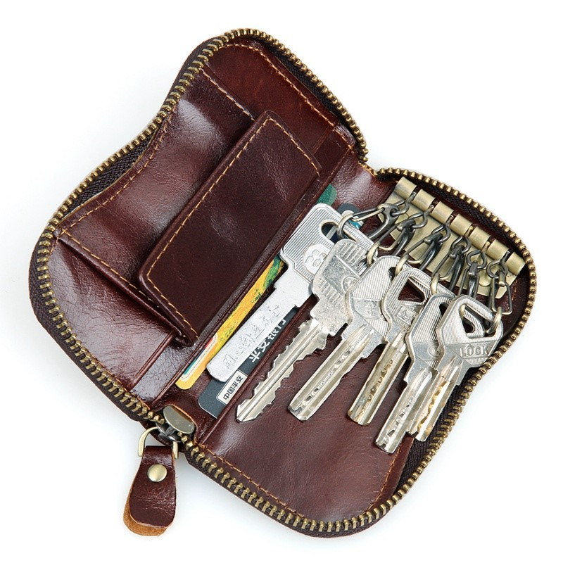 8128Q J.M.D Genuine Leather Keychains Bag China Factory