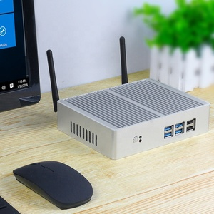 XCY Fanless Mini PC Intel Core i7 4610Y i5 4210Y i3 5005U 2955u Windows10 TV BOX VGA 6 USB WiFi HTPC Barebone Desktop PC