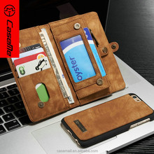Full protective mobile phone cases card holder leather phone case for iphone 6