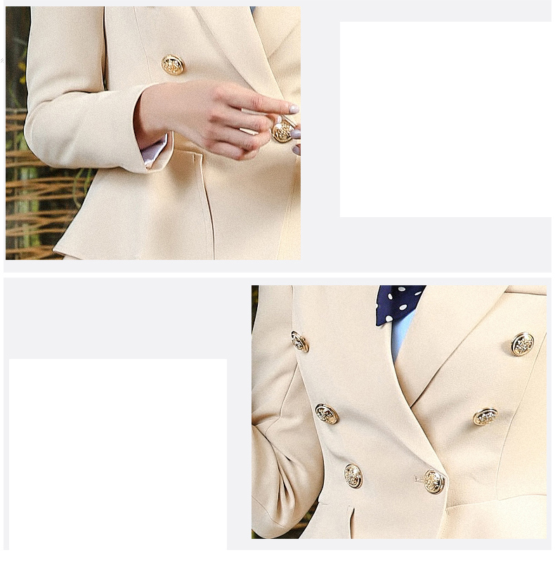 Donna Pro-Smoking Giacca Business Casual Suit Coat Jacket + Skirt