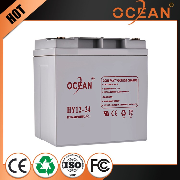 Rechargeable smart 12v 24ah replacement UPS battery