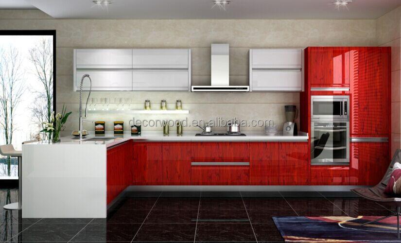 Latest modern kitchen designs red and grey kitchen - Red and grey kitchen designs ...