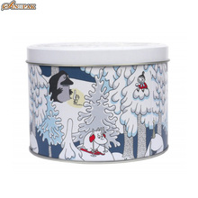 Winter land round tin boxes canada cookie tins wholesale