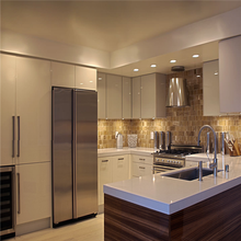 Custom modular acrylic finished display kitchen cabinets for sale