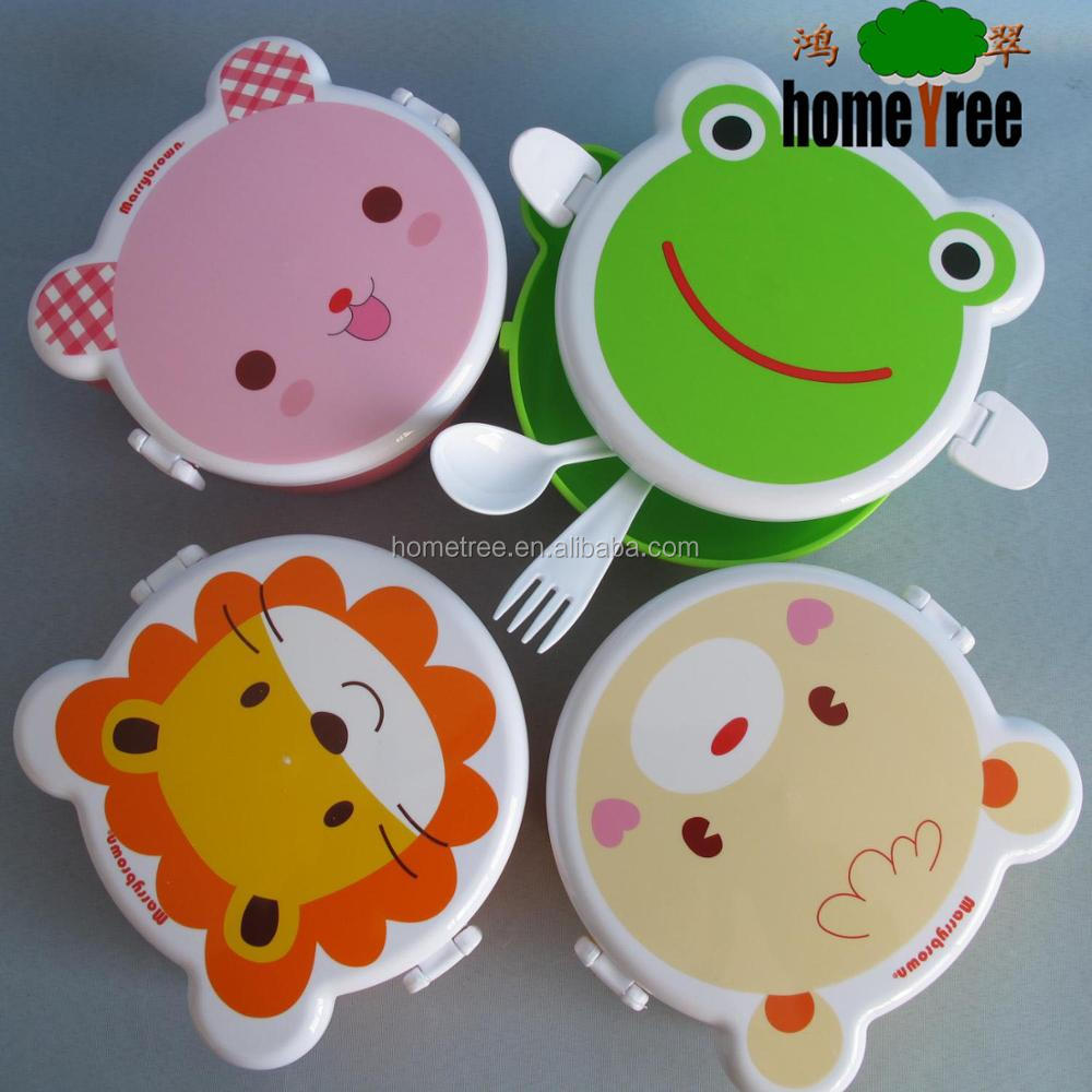 School Animal Shaped Plastic children Bento Lunch Box For kids