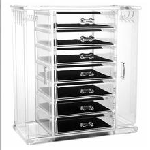 Hot clear 6 drawers acrylic makeup organizer