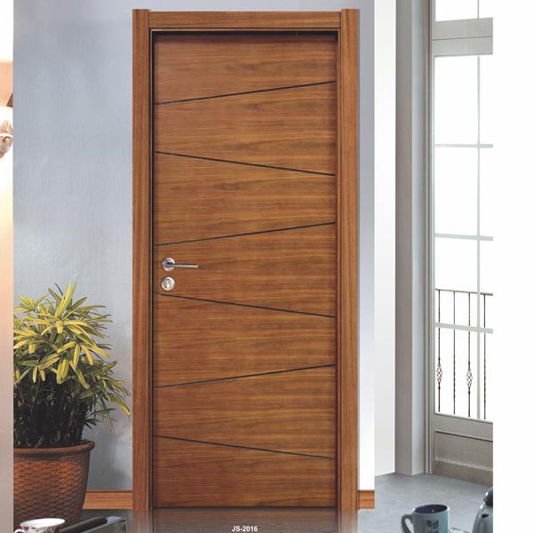 Teak wood veneer solid wood hinges door with flush door for Solid wood flush door