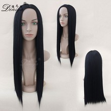 Middle parting synthetic wigs skin part Wig For Black Women