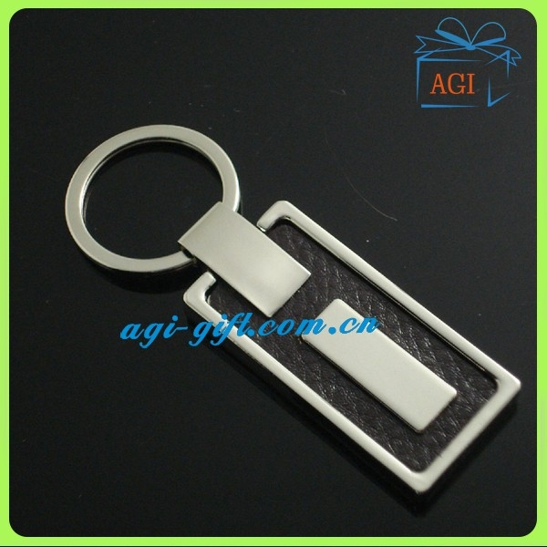 new design metal leather keychain key ring key holder