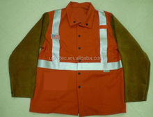 indura ultra soft fabric and split leather welding safety jacket