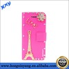 3D Bling Rhinestone Amazing Butterfly Leather Mobile Phone Case For iPhone 5 5s