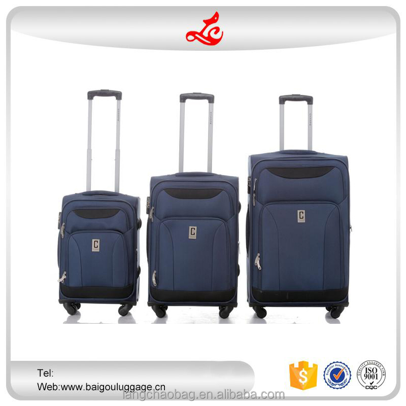 "2016 hot selling luggage wholesale 20""24""28"" vintage trolley luggage nylon travel bags luggage"