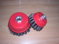 High quality steel twisted wire cup brush