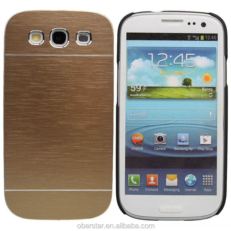 Newest Luxury Motomo Aluminum Metal Brushed Hard Slim Case Cover For Samsung Galaxy S3 i9300